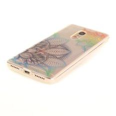 Bermotif Bening IMD TPU Gel Case untuk Xiaomi Redmi Note 4-bunga Berwarna-warni