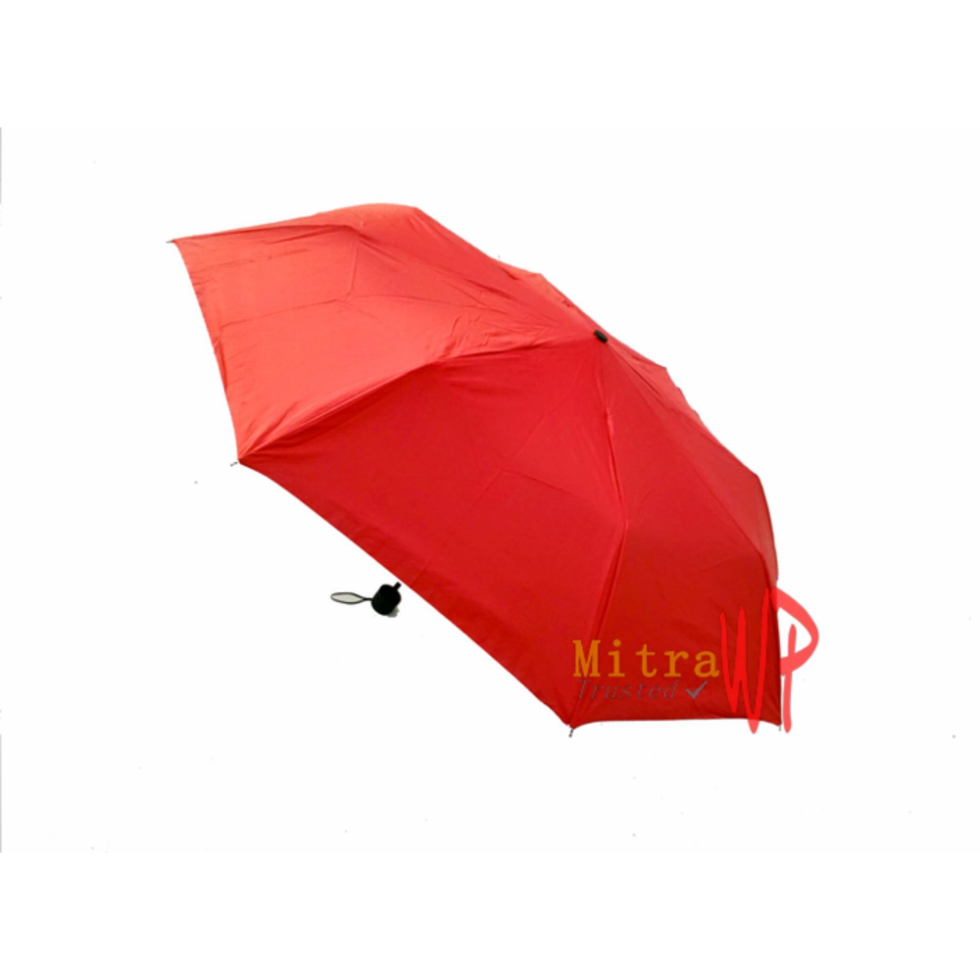 Harga Payung Lipat 3 Merah Polos Origin