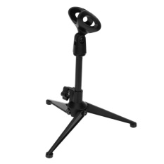 PC-03 Folding Adjustable Desktop Microphone Stand Holder Portable Tripod - intl