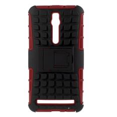 PC dan TPU Cover untuk Asus Zenfone 2 ZE550ML ZE551ML (Merah)