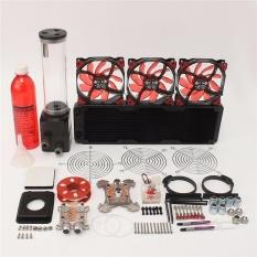 PC Pendingin Air Cair 360 Radiator Kit Pompa 220mm Reservoir CPU GPU HeatSink-Intl