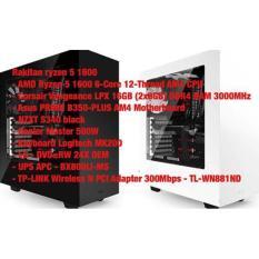 Pc Rakitan Gaming Design Rendering Ryzen 5 1600  Peripheral Komputer