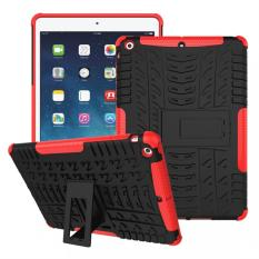 PC + TPU Hybrid Armor Kickstand Case for Apple iPad Air(Red) - intl