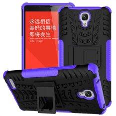 PC + TPU Hibrida Armor Kickstand Case untuk Xiaomi Redmi Note (Merah)-IntlIDR85000