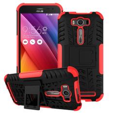 Case Asus Zenfone 2 Laser ZE500KG ZE500KL 5 Inch Dengan Penyangga Warna Merah