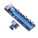 Ulasan Tentang Pci E 1X Untuk 16X 008C Usb 3 Wire Square 6Pin Wire Biru Intl