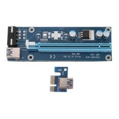 Jual Pci E 1X To 16X Mining Mesin Extender Riser Adaptor Dengan 15Pin 4Pin Kabel Intl Di Tiongkok