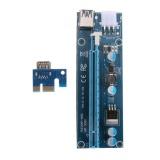 Cara Beli Pci E 1X To 16X Mining Mesin Extender Riser Adaptor Dengan 15Pin 6Pin Kabel Biru Intl