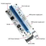 Toko Pci E Riser Express 1X Untuk 16X Extender Usb3 Kartu Adaptor Sata Btc Kabel Intl Yang Bisa Kredit