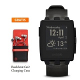 Spesifikasi Pebble Steel Leather Smartwatch Black Free Backbeat Go2 Charging Case Paling Bagus