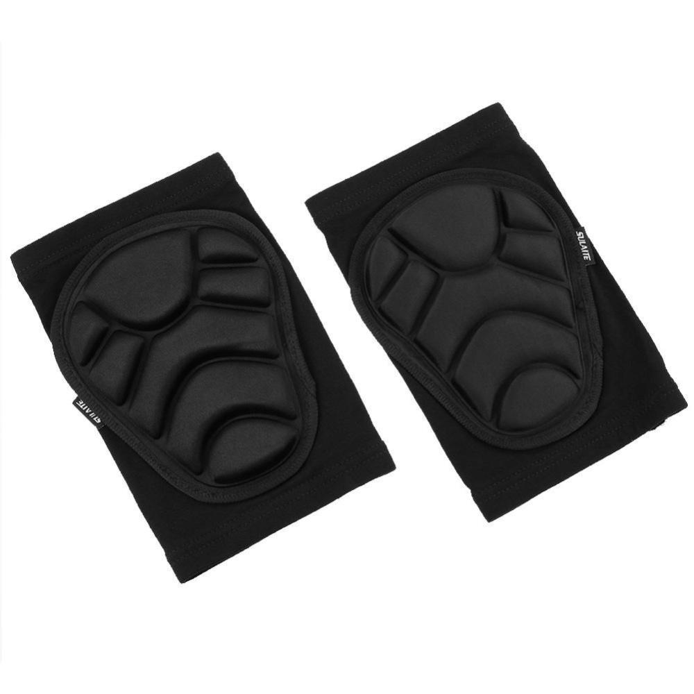 Pelindung Lutut Bantalan Lutut Melindungi Kit Untuk Ski Meluncur Naik (hitam)-L-Intl By Joyonline.