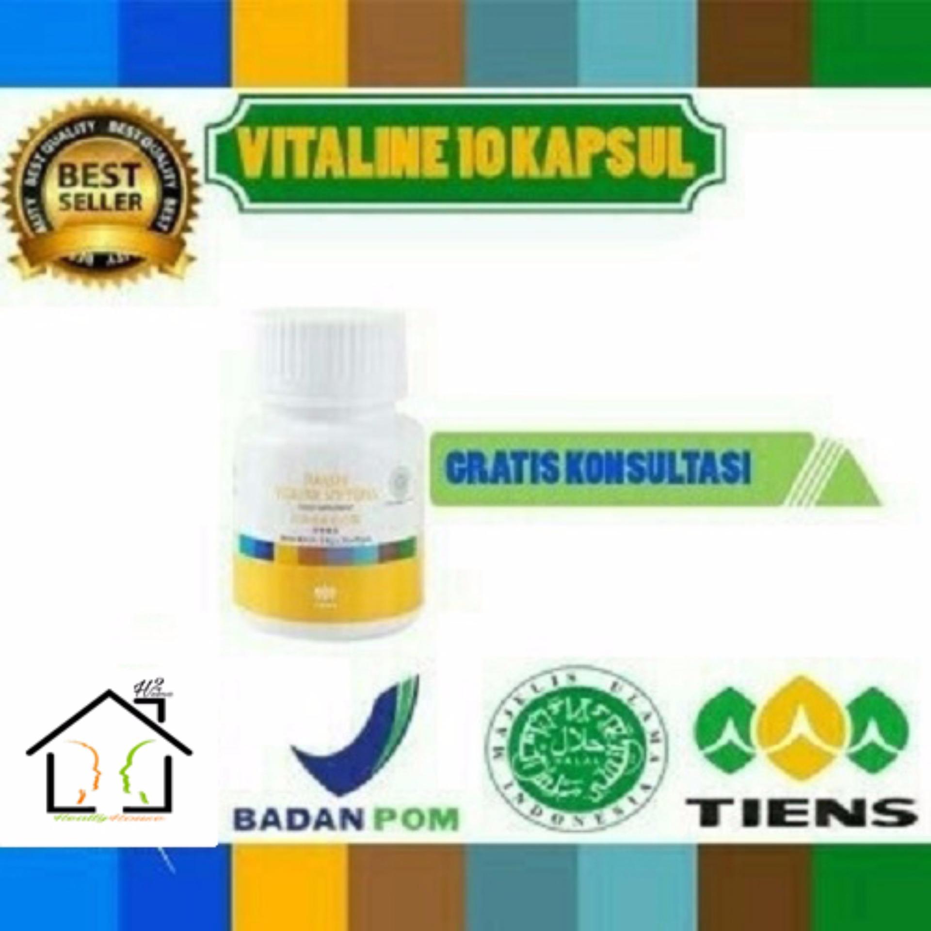 Harga Pemutih Wajah Vitaline Softgel Herbal Tiens 10 Kapsul Paling Murah