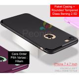 Beli Peonia Anti Fingerprint Premium Quality Grade A Ultraslim Hybrid Case For Iphone 7 4 7 Inch Rounded Tempered Glass Baru