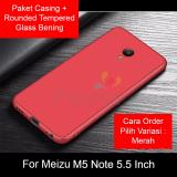 Promo Toko Peonia Anti Fingerprint Ultraslim Hybrid Case For Meizu M5 Note 5 5 Inch Rounded Tempered Glass