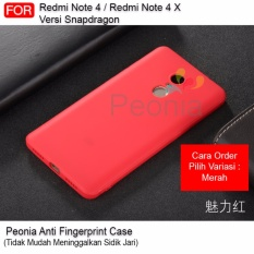 Peonia Anti Fingerprint Premium Quality Grade A Ultraslim Hybrid Case for Xiaomi Redmi Note 4X , Redmi Note 4 versi Snapdragon 5.5 inch ( sama ukuran )