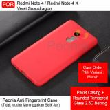 Beli Peonia Anti Fingerprint Premium Quality Grade A Ultraslim Hybrid Case For Xiaomi Redmi Note 4X Redmi Note 4 Versi Snapdragon 5 5 Inch Rounded Tempered Glass Jawa Barat