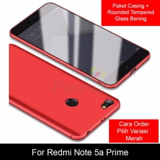 Tips Beli Peonia Anti Fingerprint Premium Quality Grade A Ultraslim Hybrid Case For Xiaomi Redmi Note 5A Prime 5 5 Inch Rounded Tempered Glass Yang Bagus