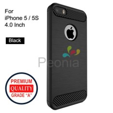 Peonia Carbon Shockproof Hybrid Premium Quality Grade A Case for Iphone 5 / 5s / 5 SE 4 Inch - Hita