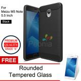 Ulasan Mengenai Peonia Carbon Shockproof Hybrid Premium Quality Grade A Case For Meizu M5 Note 5 5 Inch Hitam Rounded Tempered Glass