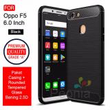 Toko Peonia Carbon Shockproof Hybrid Premium Quality Grade A Case For Oppo F5 F5 Youth F5 Pro 6 Inch Rounded Tempered Glass Online Terpercaya