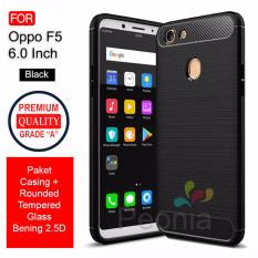 Beli Peonia Carbon Shockproof Hybrid Premium Quality Grade A Case For Oppo F5 F5 Youth F5 Pro 6 Inch Rounded Tempered Glass Yang Bagus