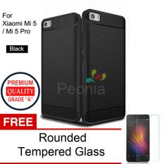 Toko Peonia Carbon Shockproof Hybrid Premium Quality Grade A Case For Xiaomi Mi 5 Mi 5 Pro Hitam Rounded Tempered Glass Jawa Barat