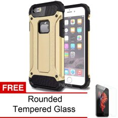 Peonia Kingkong Defender Slim Armor HardCase for Iphone 6 plus / 6S plus (5.5inch) - Gold + Tempered Glass