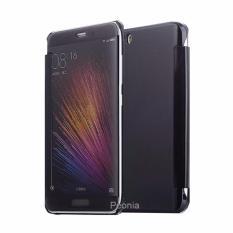 Peonia Mirror Flip Cover Case for Xiaomi Mi 5 / Mi 5 Pro - Hitam