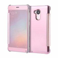 Peonia Mirror Flip Cover Case for Xiaomi Redmi 4s / Prime / Pro - Rose Gold