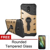 Review Peonia Sniper 360 Standing Rotary Slim Armor Case For Motorola Moto E3 Power Gold Rounded Tempered Glass Peonia Di Jawa Barat