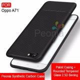 Jual Peonia Synthetic Fiber Carbon Ultraslim Hybrid Case For Oppo A71 5 2 Inch Rounded Tempered Glass Peonia Ori