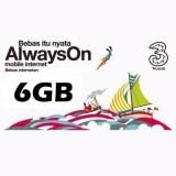 Perdana Three Aon 6Gb Bonus 12Gb 4G Internet Three Diskon 50
