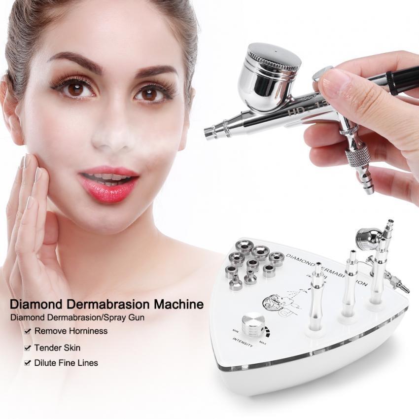 Spesifikasi Peremajaan Kulit Diamond Dermabrasion Mikrodermabrasi Kerut Penghapusan Kecantikan Mesin Uk Plug Intl Yg Baik