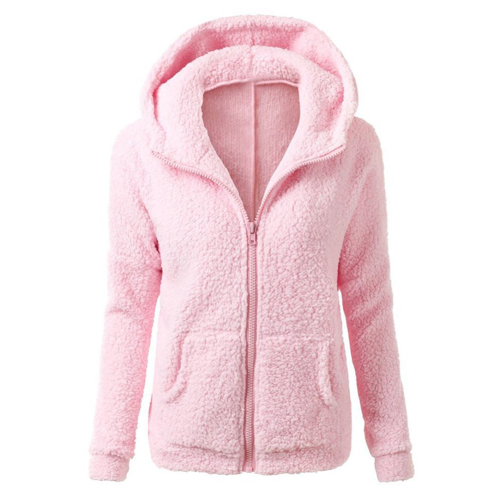 Perempuan Menebalkan Bulu Mantel Musim Dingin Yang Hangat Jaket Rak Jaket  Bertudung Pakaian Bersepeda-Internasional 18478be541