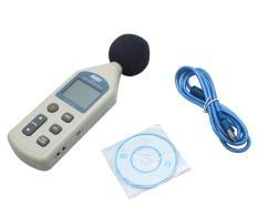 Sempurna 30-130dB USB Digital Tingkat Tekanan Suara Meter Desibel Kebisingan Tester (Abu-abu)-Intl