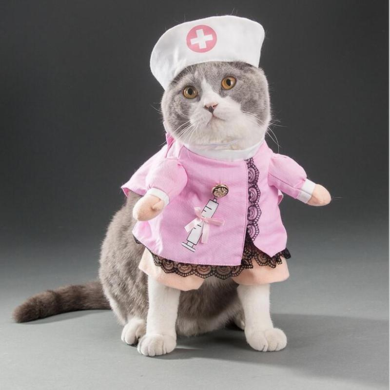 PET anjing kucing Halloween kostum lucu lucu berdandan Perapi Natal Pesta pakaian perawat XL