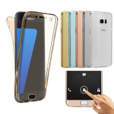 PETREL 360 ° Full Body Protect Lembut Silicone Case Front + Back Cover untuk Samsung Galaxy