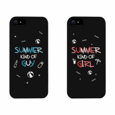 PETREL Couple Phone Case for iPhone 5/5S No. 28 Set of 2 (Black)