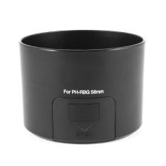 PH-RBG 58 Mm Tudung Lensa Hitam untuk Pentax SMCP-DA 55-300 Mm F/4-5.8 ED-Intl