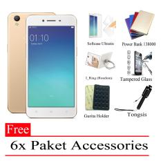 PheyPhey Oppo A37 Ram 2GB/16GB (Free 6x Paket Accessories) Gold - Smarphone