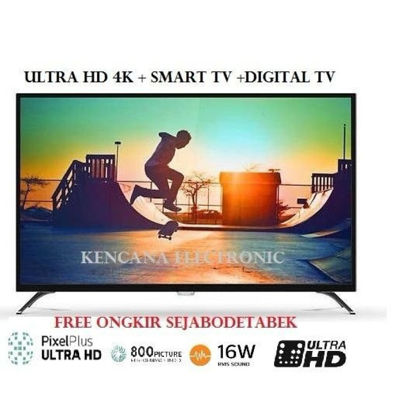 PHILIPS 43PUT6002S ULTRA HD 4K LED SMART TV DIGITAL TV DVB-T T2 - 43 INCH - Khusus JABODETABEK