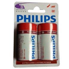 Jual Philips Alkaline Size D 4 Baterai Merah Philips Asli