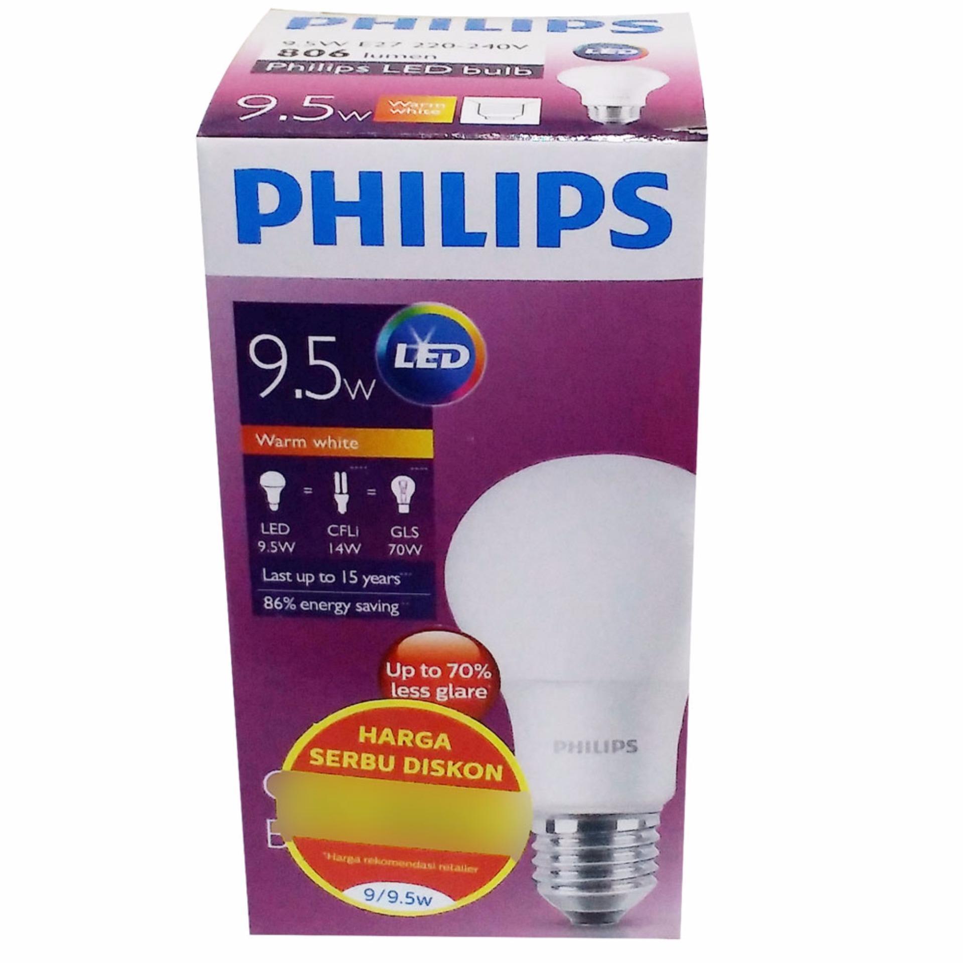 Philips Lampu LED 9,5 Watt (Warm White / Kuning)