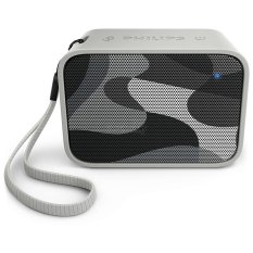 Katalog Philips Pixel Pop Wireless Bluetooth Portable Speaker Splash Proof Bt 110C Abu Abu Philips Terbaru