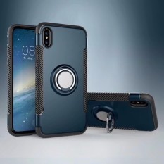 Kasus Telepon untuk Apple iPhone 7 dengan Lingkaran Penahan Stand Penyangga, 360 Derajat Dapat Disesuaikan Lingkaran Pegangan Penyangga Kompatibel dengan Magnetik Mobil Dudukan Anti-sidik Jari Ramping Teluk Kecil-Internasional