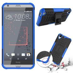 Phone Case untuk HTC Desire 530 Benturan Keras Case Heavy Duty Armor Hybrid Anti-Knock Silicon Hard Kembali Cover untuk HTC Desire 630 (Biru) -Intl