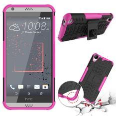 Phone Case untuk HTC Desire 530 Benturan Keras Case Heavy Duty Armor Hybrid Anti-Knock Silicon Hard Kembali Cover untuk HTC Desire 630 (Hotpink) -Intl