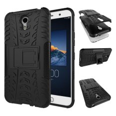 Phone Case For Lenovo Zuk Z1 Tough Impact Case Heavy Duty Armor Hybrid Anti-knock Silicon Rubber Hard Cover With Stand (Black) - intl