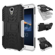 Phone Case untuk Lenovo Zuk Z1 Benturan Keras Case Heavy Duty Armor Hybrid Anti-Knock Karet Silikon Hard Cover dengan Stand (Putih) -Intl