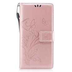 Phone Case For Samsung Galaxy S8 Plus PU Leather Wallet Case Magnetic Flip Stand Cover with Card Slots and Hand Strap (Rosy)